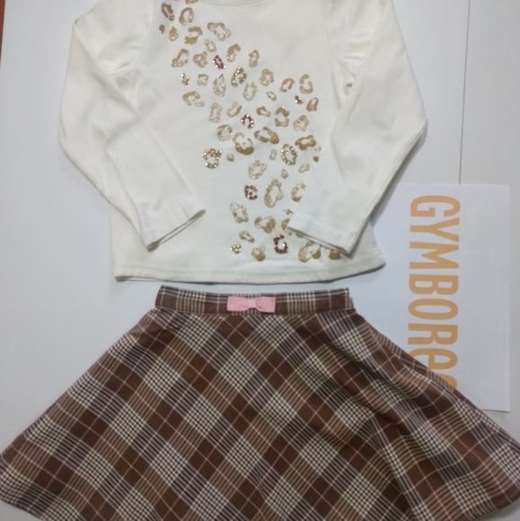 GYMBOREE Two Set Top and Skirt